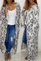 Leopard Print Fashion Casual Leopard Cardigan Outerwear