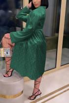 Light Green Fashion Sexy Print Nightdress