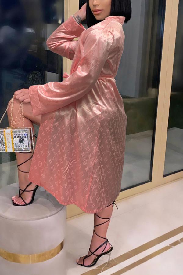 Light Pink Fashion Sexy Print Nightdress