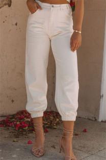 Apricot Fashion Casual Solid Basic High Waist Regular Denim Jeans