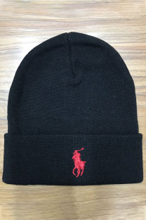 Black Red Fashion Street Embroidery Split Joint Hat