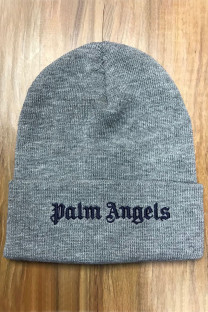 Grey Fashion Street Embroidery Split Joint Hat