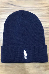 Navy Blue Fashion Street Embroidery Split Joint Hat