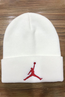 White Fashion Street Embroidery Split Joint Hat