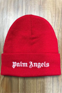 Red Fashion Street Embroidery Split Joint Hat