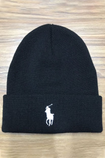 Black And White Fashion Street Embroidery Split Joint Hat