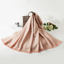 Pink Fashion Casual Print Split Joint Letter Scarf