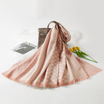 Pink Fashion Casual Letter Split Joint Scarf