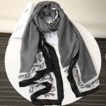 Black Fashion Casual Print Split Joint Scarf