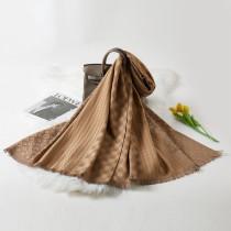 Khaki Fashion Casual Letter Split Joint Scarf