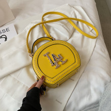 Yellow Fashion Casual Patchwork Rivets Bags