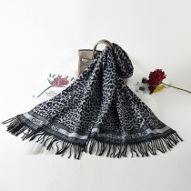 Black And White Fashion Casual Print Split Joint Letter Scarf