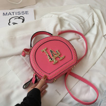 Rose Red Fashion Casual Patchwork Rivets Bags