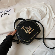 Black Fashion Casual Patchwork Rivets Bags