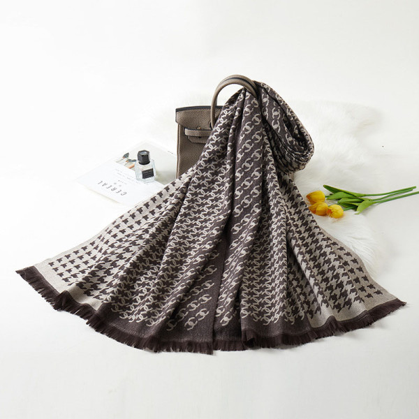 Black Fashion Casual Letter Split Joint Scarf