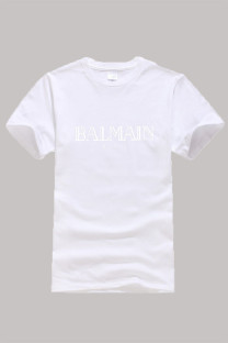 White Fashion Casual Print Letter O Neck Tops