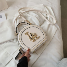 White Fashion Casual Patchwork Rivets Bags