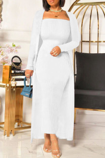 Milky Fashion Casual Solid Cardigan Long Sleeve Two Pieces