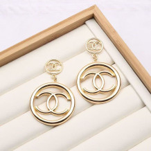 Gold Fashion  Simplicity Solid Letter Earrings