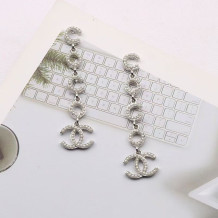 White Fashion  Simplicity Solid Letter Earrings