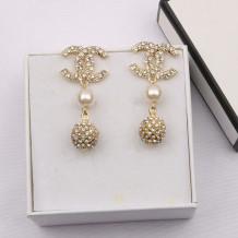 Gold Fashion  Simplicity Letter Split Joint Earrings