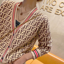 Khaki Fashion Casual Letter Split Joint V Neck Tops