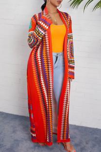 Colour Street Print Split Joint Outerwear