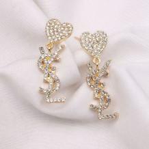 Gold Fashion  Simplicity Geometric Hot Drill Earrings