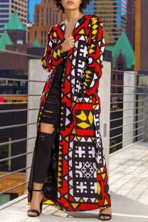 Multicolor Fashion Casual Print Cardigan Outerwear