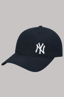 Navy Blue Fashion  Simplicity Embroidery Letter Hat