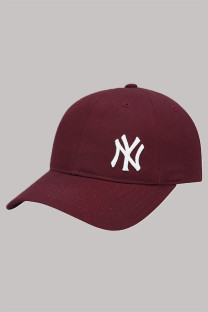 Burgundy Fashion  Simplicity Embroidery Letter Hat