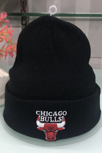 Black Fashion Street Embroidery Split Joint Letter Hat