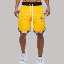 Yellow Fashion Casual Print Split Joint Loose Mid Waist Wide Leg Bottoms