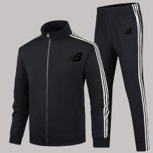 Black Fashion Sportswear Print Letter Zipper Collar Long Sleeve Two Pieces