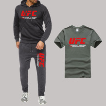 Dark Gray Fashion Sportswear Print Split Joint Letter Hooded Collar Long Sleeve Three Pieces