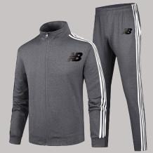 Dark Gray Fashion Sportswear Print Letter Zipper Collar Long Sleeve Two Pieces
