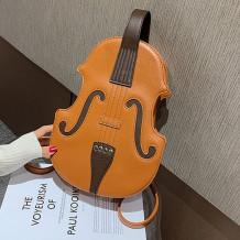 Brown Fashion Retro Violin Backpack