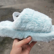 Light Blue Casual Daily Split Joint Round Keep Warm Shoes