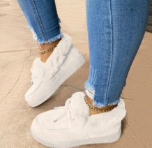 White Casual Round Keep Warm Shoes