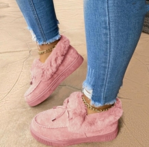 Pink Casual Round Keep Warm Shoes
