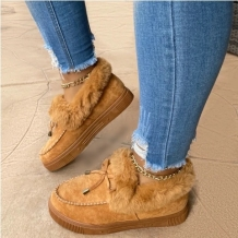 Brown Casual Round Keep Warm Shoes