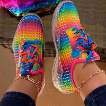 Colour Fashion Casual Round Out Door Sports Shoes