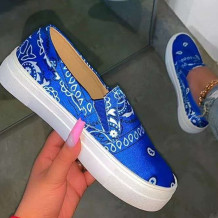 Blue Fashion Casual Split Joint Round Out Door Shoes