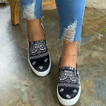 Black Fashion Casual Split Joint Round Out Door Shoes
