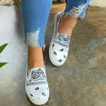 White Fashion Casual Split Joint Round Out Door Shoes