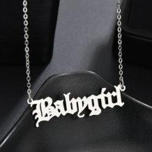 Silver Fashion Splicing Letter Necklaces