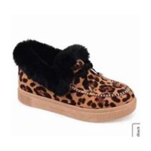 Leopard Print Casual Round Keep Warm Shoes