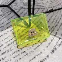 Fruit Green Fashion Casual Solid Transparent Crossbody Bag