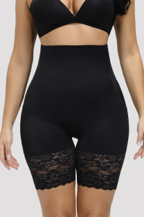 Black Fashion Sexy Solid Hip Lifting And Belly Shaping Safety Pants