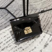 Black Fashion Casual Solid Transparent Crossbody Bag